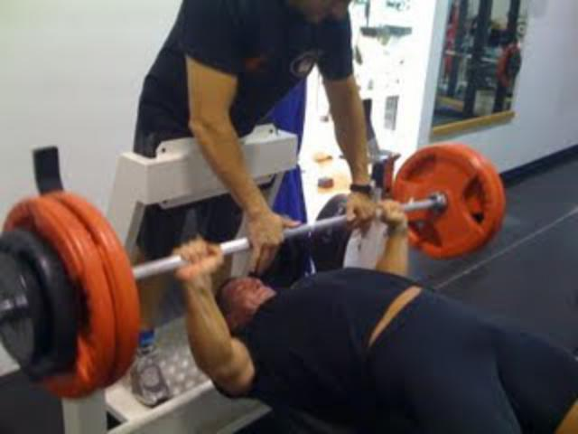 bench press wallace register! video